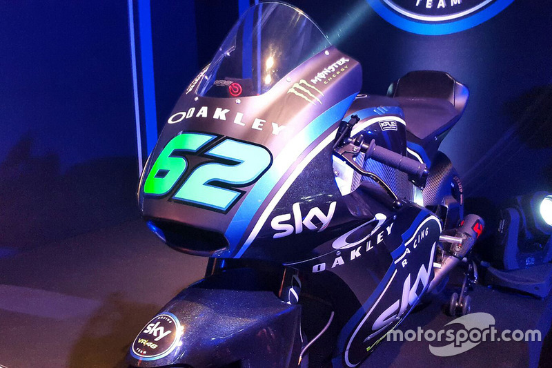 The Moto2 bike of Stefano Manzi