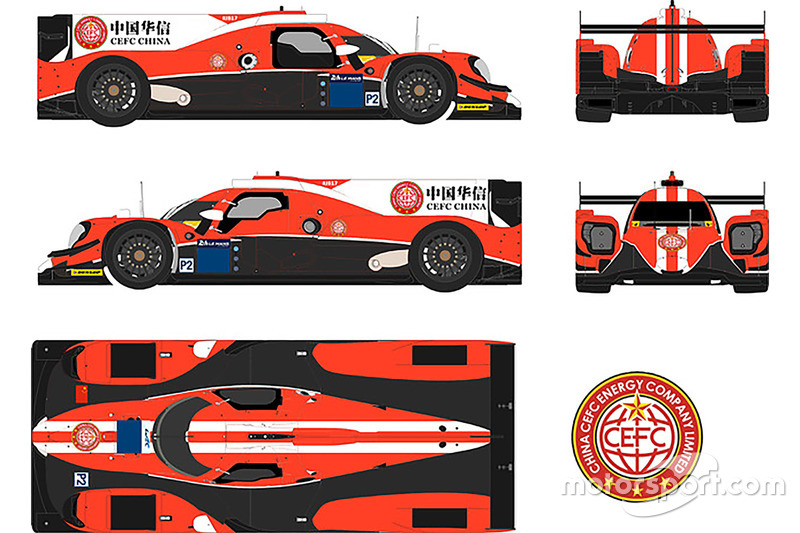 La livrée Manor Motorsport CEFC China