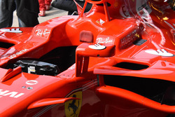 Rückspiegel am Auto von Sebastian Vettel, Ferrari SF70H