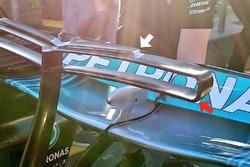 T-wing de la Mercedes AMG F1