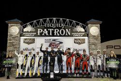 Podium class winners: Ricky Taylor, Jordan Taylor, Alex Lynn, Wayne Taylor Racing, Antonio Garcia, M