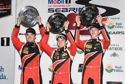 PC podium: ganadores, James French, Kyle Mason, Patricio O'Ward, Performance Tech Motorsports