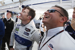 Dave Pericak of Ford with GTLM pole winner Ryan Briscoe, Ford Performance Chip Ganassi Racing