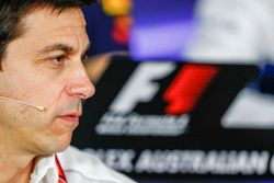 Toto Wolff, Sportchef, Mercedes AMG, bei der FIA-Pressekonferenz