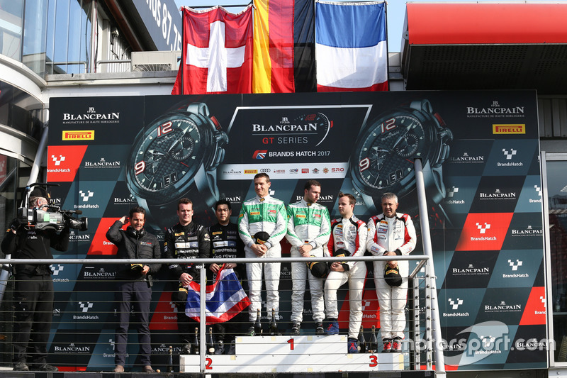 Pro-Am Podium: first place Alexander Matschull, Daniel Keilwitz, Rinaldi Racing, second place Piti B