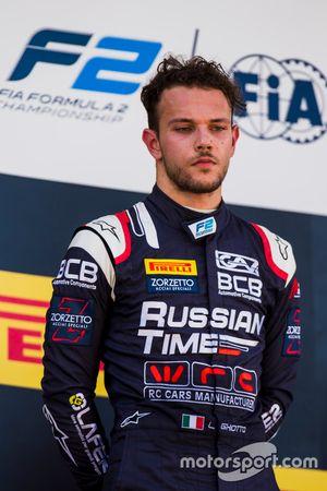 Подиум: обладатель второго места Лука Гьотто, RUSSIAN TIME