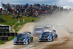 Петтер Сольберг, PSRX Volkswagen Sweden, VW Polo GTi, и Йохан Кристофферссон, PSRX Volkswagen Sweden