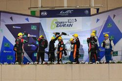 LMP2 Podium: tweede plaats #43 RGR Sport by Morand Ligier JSP2 - Nissan: Ricardo Gonzalez, Filipe Al