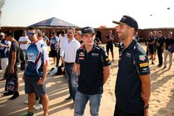 Max Verstappen, Red Bull Racing and Daniel Ricciardo, Red Bull Racing attend the drivers briefing