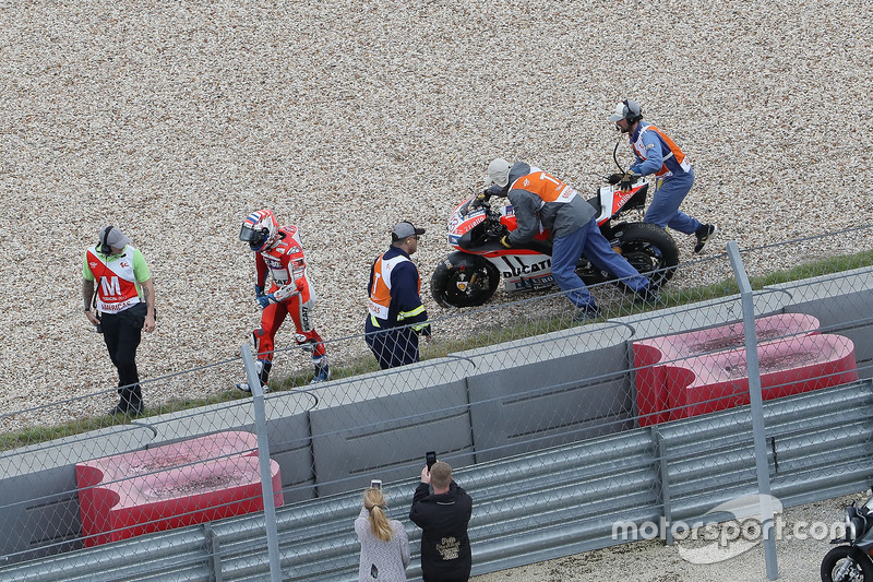 Andrea Dovizioso, 5 crashes
