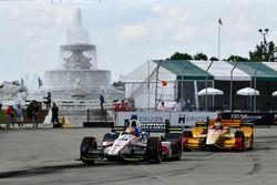 Ed Jones, Dale Coyne Racing Honda, Ryan Hunter-Reay, Andretti Autosport Honda
