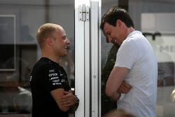 Valtteri Bottas, Mercedes AMG F1 and Toto Wolff, Mercedes AMG F1 Director of Motorsport