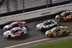 Jimmie Johnson, Hendrick Motorsports Chevrolet, Corey LaJoie, BK Racing Toyota