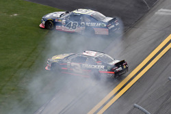 Brennan Poole, Chip Ganassi Racing Chevrolet and Ty Dillon, Richard Childress Racing Chevrolet spin