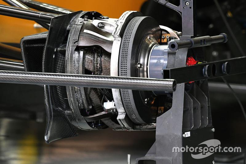 Renault Sport F1 Team RS17, Bremsscheibe vorne, Detail