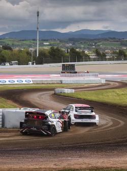 Toomas Heikkinen, EKS, Audi S1 EKS RX Quattro, Timo Scheider, MJP Racing Team Austria, Ford Fiesta S