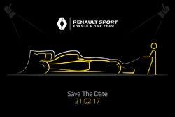 Teaser della presentazione della monoposto 2017 Renault F1 Team