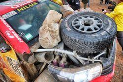 #301 Toyota Gazoo Racing, Toyota: Nasser Al-Attiyah, Matthieu Baumel nach dem Crash