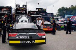 Matt Tifft, Joe Gibbs Racing Toyota, Christopher Bell, Joe Gibbs Racing Toyota and James Davison, Jo