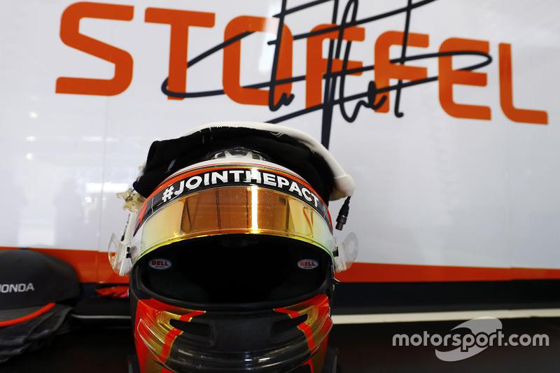 Helmet of Stoffel Vandoorne, McLaren