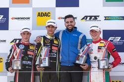 Podium, Joel Eriksson, Motopark, Dallara F317 - Volkswagen, Lando Norris, Carlin, Dallara F317 - Vol