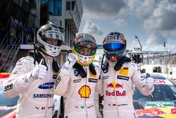 Le top 3 des qualifications : Maxime Martin, BMW Team RBM, BMW M4 DTM, le poleman Augusto Farfus, BMW Team RMG, BMW M4 DTM, Marco Wittmann, BMW Team RMG, BMW M4 DTM