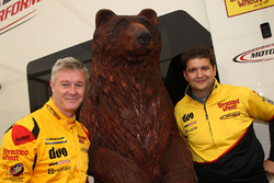Martin Depper, Motorbase Performance Ford Focus, a bear and Mat Jackson, Motorbase Performance Ford