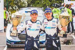 Победители Отт Тянак и Мартин Ярвеоя, Ford Fiesta WRC, M-Sport