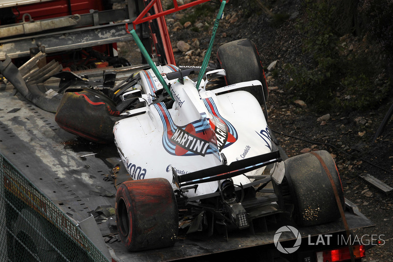 La monoposto incidentata di Felipe Massa, Williams FW40