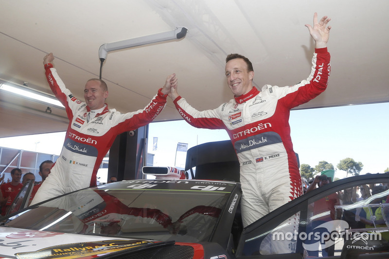 Il vincitori Kris Meeke, Paul Nagle, Citroën C3 WRC, Citroën World Rally Team