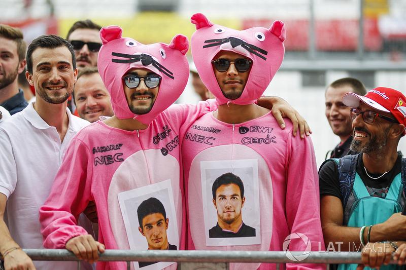 Уболівальники Sahara Force India Рожеві пантери