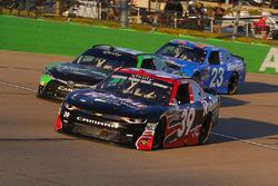 Ryan Sieg, RSS Racing Chevrolet, Dakoda Armstrong, JGL Racing Toyota y Spencer Gallagher, GMS Racing Chevrolet