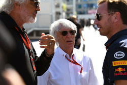 Flavio Briatore, Bernie Ecclestone, Christian Horner, Red Bull Racing