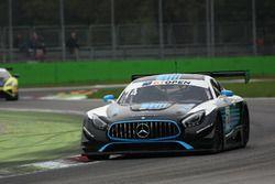 #74 MS Racing Mercedes AMG GT3: Martin Konrad, Alexander Hrachowina
