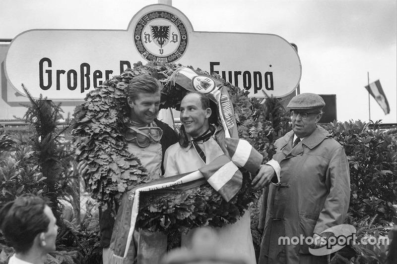 Wolfgang von Trips, ve Stirling Moss, podyumda