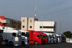 Trucks in the paddock