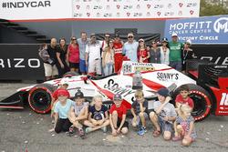 Race winner Sébastien Bourdais, Dale Coyne Racing Honda and friends