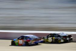 Kyle Busch, Joe Gibbs Racing Toyota, Derrike Cope, Premium Motorsports Toyota