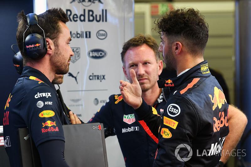 Daniel Ricciardo, Red Bull Racing, mit Christian Horner, Red-Bull-Teamchef