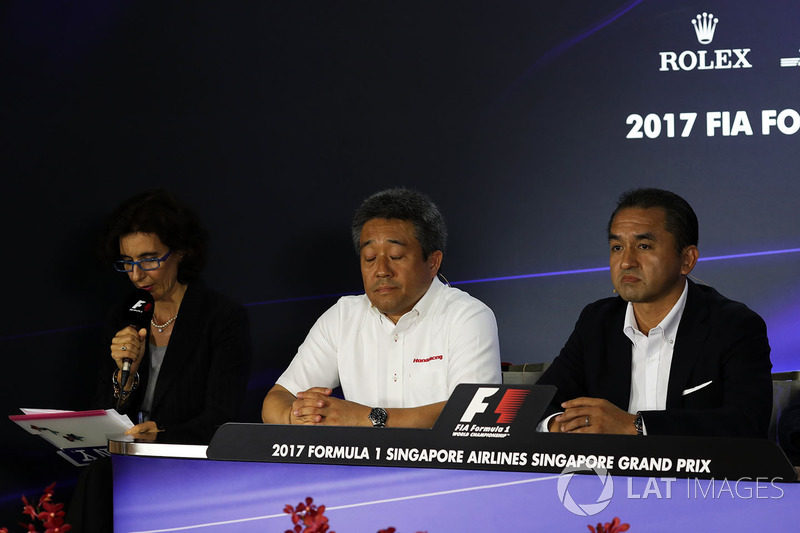 Masashi Yamamoto, Honda and Katsuhide Moriyama, Honda in the Press Conference