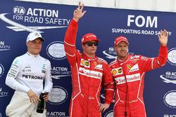 Поул-сіттер Кімі Райкконен, Ferrari, друге місце - Себастьян Феттель, Ferrari, третє місце - Валттері Боттас, Mercedes AMG F1