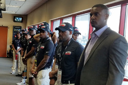 Jusan Hamilton and the NASCAR Drive for Diversity Pit Crew press conference