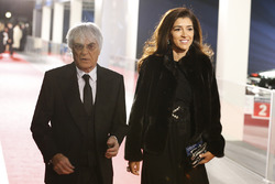 Bernie Ecclestone and wife Fabiana Flosi