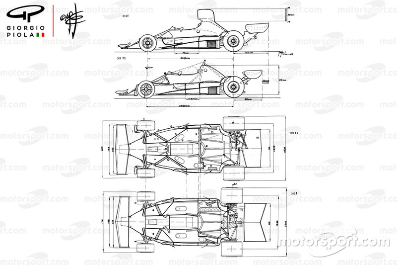 Ferrari 312T2 1976 compared with 312T