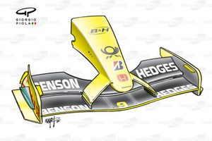 Jordan EJ12 2002 front wing and nose