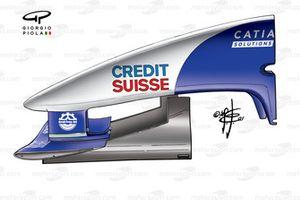 Sauber C22 2003 nosebox