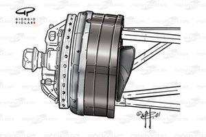Ferrari F2001 front brake duct