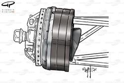 Conduit de frein de la Ferrari F2001