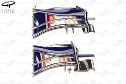 Red Bull RB4 2008 Silverstone front wing comparison
