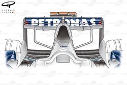 Boîte à air et aileron arrière de la de la BMW F1.07